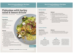 Fishcakes recipe for blog copy