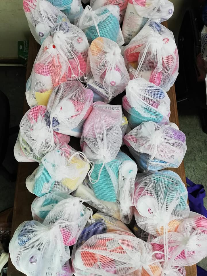 Toiletry packs containing all the goodies for both mother and the baby